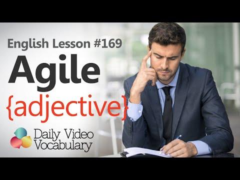 English Lesson # 169– Agile (adjective) – Improve your English vocabulary & speak fluent English