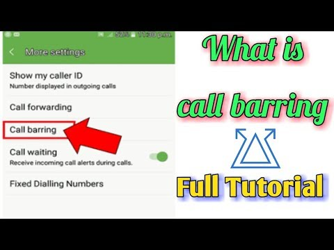 What is Call Barring || activate / deactivate call barring feature on any mobile