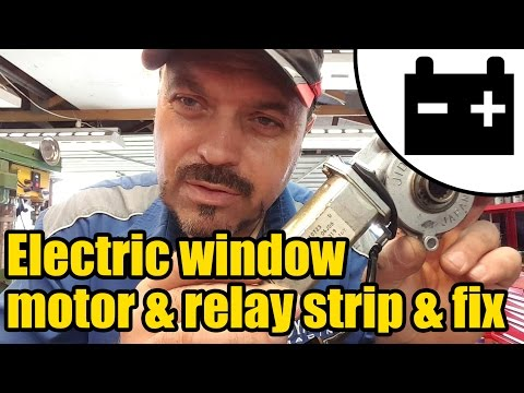Electric window motor bench test, strip & fix #1423