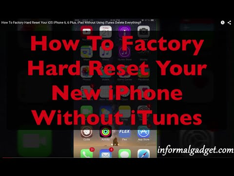 How To Erase iPhone 6 Plus Without Using iTunes, Factory Hard Reset iOS Data: Delete Everything!!