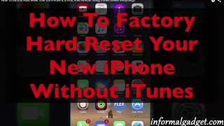 How To Erase Iphone 6 Plus Without Using Itunes Factory Hard Reset Io