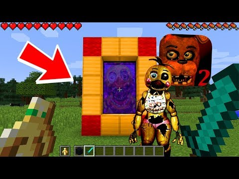 HOW TO MAKE A PORTAL TO THE SCARY FNAF 2 DIMENSION - MINECRAFT FNAF
