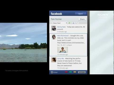 Sony BRAVIA Internet TV: Using Facebook