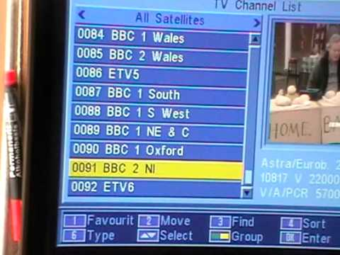 How to tune the missing BBC channels back into an Free to air satellite receiver - 18 October 2010