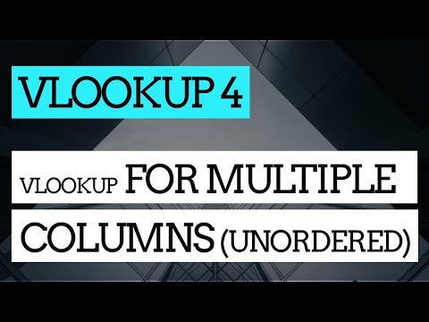 How to Do a VLOOKUP in Excel #4 : Using VLOOKUP to get multiple values(unordered)