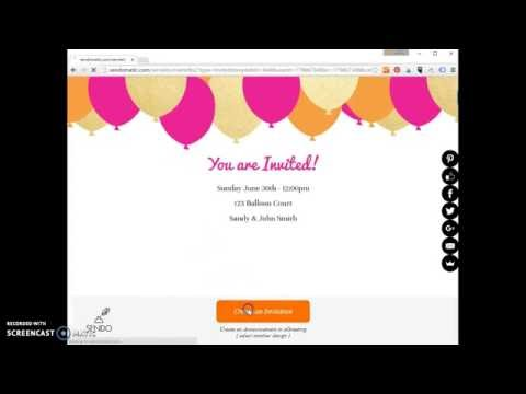 How to create a simple email invitation