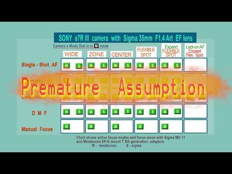 Metabones adapter vs Sigma MC -11 Test  Sony a7R III with Sigma 35mm f1.4 Art lens  4K