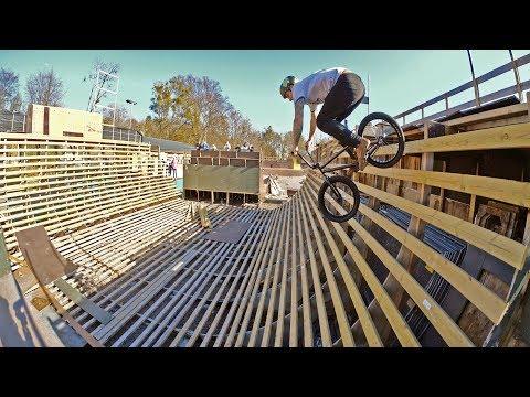 DEATH HALF PIPE BMX RIDING!