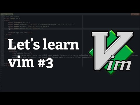 Screencast #21: Let's learn vim #3 - Different ways to enter Insert mode