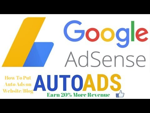 How To Put Google Adsense Auto Ads On Your Self Hosted Website/Blog | Earn 20% More Revenue