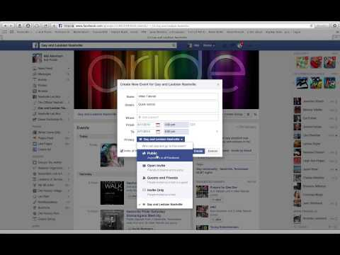 Facebook Tutorial: How to Create a Group Event