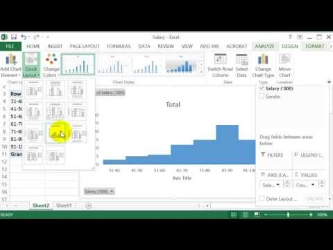 How to construct a Frequency Table & Histogram in Excel