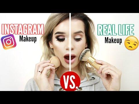 INSTAGRAM Makeup VS. REAL LIFE Makeup!