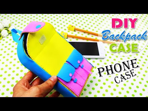 DIY BACKPACK PHONE CASE & PENCIL CASE NO SEW TUTORIAL