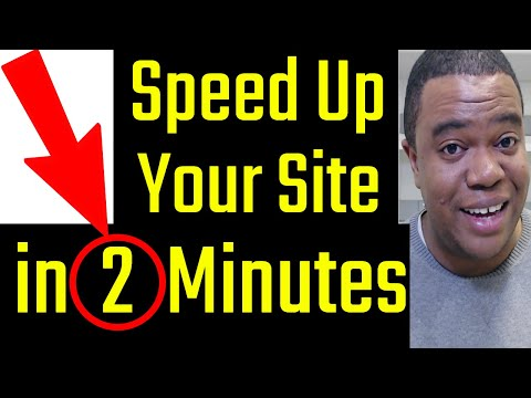 How To Make Your Wordpress Site Faster (in 2 Minutes)