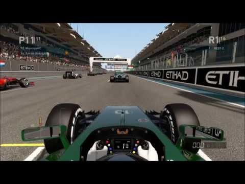 F1 2014 XBox 360: Abu Dhabi Online Multiplayer (Safety Car)