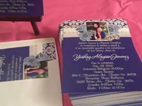 Quinceanera Roses Photo Invitations at eventphotocards.com