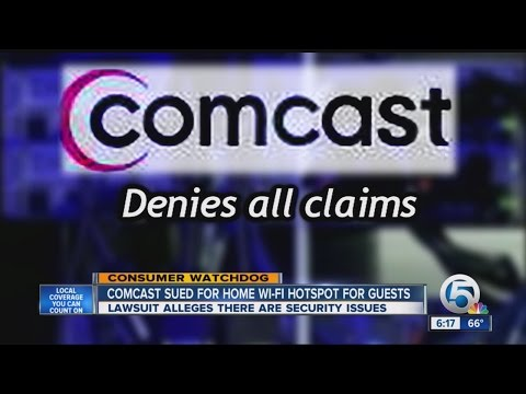 Comcast sued over wireless routers in homes