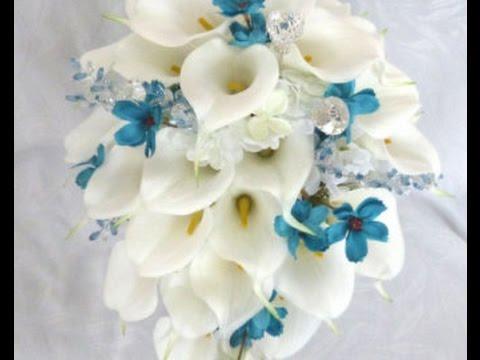 Cascading Calla Lily Wedding Bouquet
