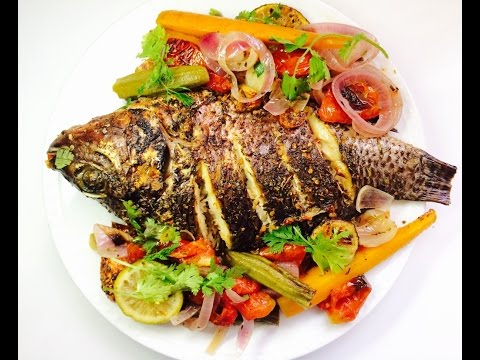 Spicy & Sour Baked Tilapia Fish - without oven