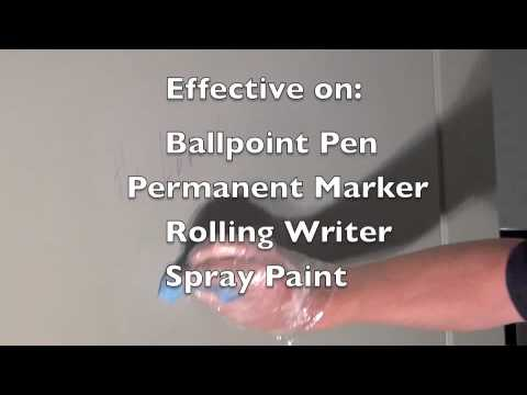 How to Remove Washroom Graffiti