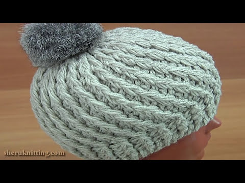 Crocheted 3D  Beanie Hat Tutorial 168 Crochet Puff Stitch