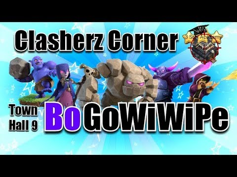 Town Hall 9 BoGoWiWiPe 3 Star Tutorial - 2018 Meta - Clash Of Clans