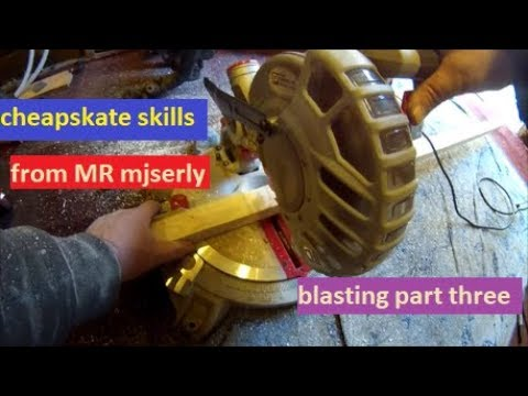CHEAPSKATE skills home made sandblasting cabinet