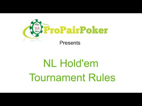 No Limit Holdem Tournament Rules