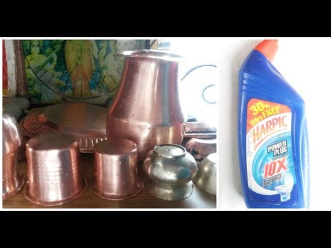how to clean copper vessels at home | how to clean brass at home | Harpic hack