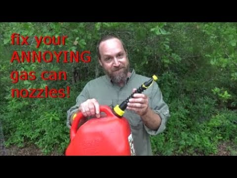 ANNOYING gas can nozzles! How to replace them quickly and easily.