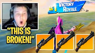 Benjyfishy *FREAKS OUT* Shows How OP CHARGE SHOTGUN is w/ New WEAPONS on NEW Fortnite Season 5 MAP!