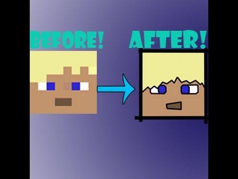 Tutorial: How To Make a Cartoon Minecraft Face (PhotoShop)