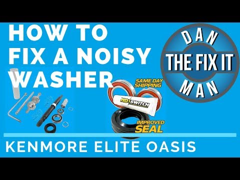 HOW TO FIX A NOISY WASHER -  (Replacing the Drum Bearings and shaft seal) - Kenmore Elite Oasis DIY