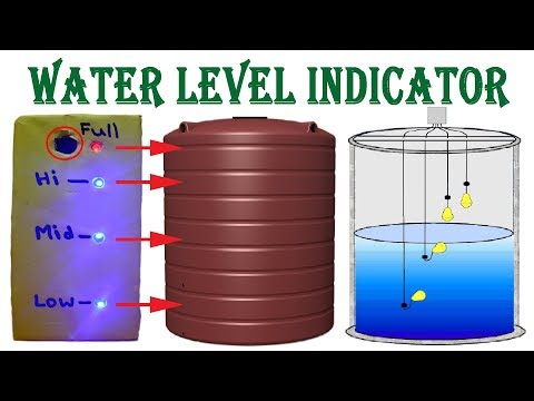 Make Water Level Indicator With Alarm System At Home - Electronics Project