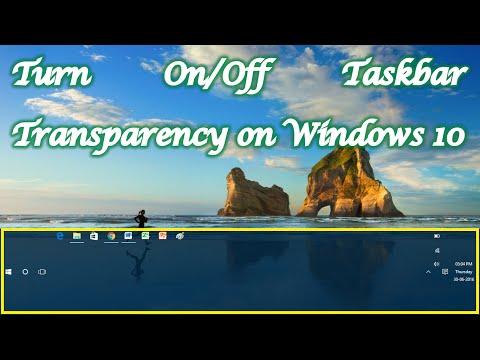 Make Taskbar Transparency Turn On /Off - Windows 10