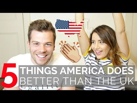 🇺🇸5 Things America Does Better Than The UK 🇬🇧| American vs British!