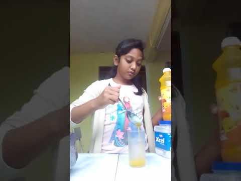 Orange juice with sugar