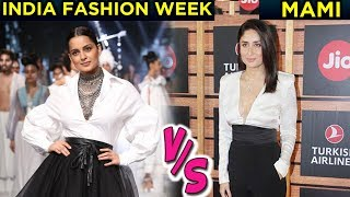 Kareena Kapoor VS Kangana Ranaut White Black Fashion War   MAMI VS India Fashion Week