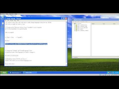 How To Change Windows XP To Any Language