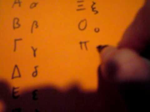 Writing the Greek Alphabet (Part 5: Modern Greek)