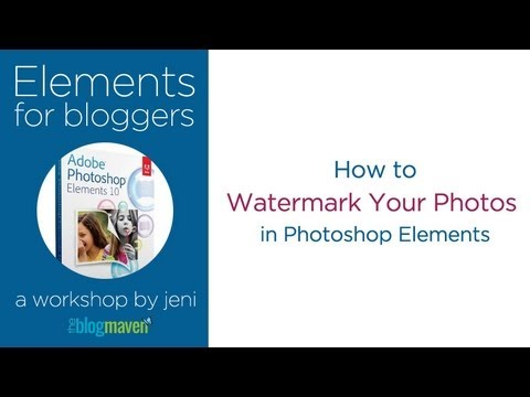 Watermark Your Photos in Photoshop Elements