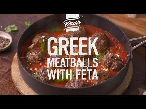 Greek Meatballs with Feta
