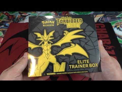 Pokemon Sun & Moon Forbidden Light Elite Trainer Box Opening