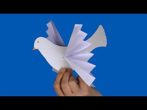 How to make a paper dove