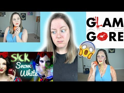 I TRIED FOLLOWING A GLAM&GORE TUTORIAL | Sick Snow White | MakeupbyMegB