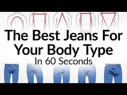 Best Jeans For Body Type? | What Denim Fits A Man Best | Jean Denims Visual Fit Guide Video