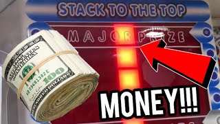 WON CASH MONEY MAJOR PRIZE FROM ARCADE STACKER GAME!!    ClawBoss