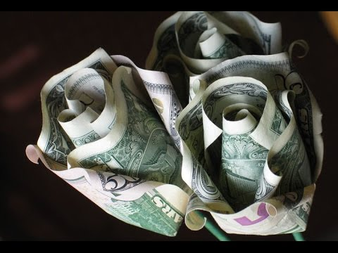 DIY Origami Rose Money | Superholly