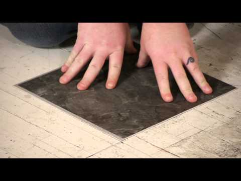 How to Install Groutable Vinyl Tile : Flooring Repairs